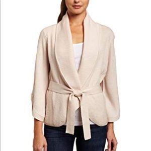 BCBGMaxAzria | Merino Wool Belted Open Cardigan